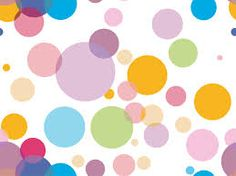 Colorful polka dots. Perfect for a Dashboard for my organizer.