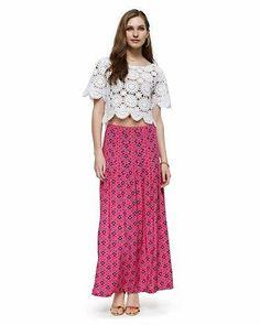 Isla Ibiza Silk Maxi Skirt