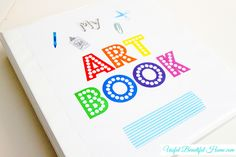 Free Printable to Create an Art Book to organize your child's take-home papers