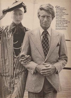 Pat Cleveland and Ted Dawson for GQ Winter 1973