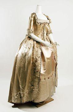 Robe à la Française, 1774-1793, France.