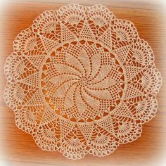 Large Ecru/Natural Crochet Doily--Pinwheel Doily with Beautiful Fan Table Topper--Free S Free Crochet Doily Patterns, Crochet Lace Edging, Cotton Crochet, Thread Crochet, Hand Crochet, Lace Doilies, Crochet Doilies, Crochet Decoration, Tatting Lace