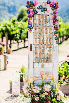 Unique seating plan for #outdoor #wedding from celebrity event planner Sasha Souza's Napa Valley wedding  // featured on the Modern Wedding Blog.