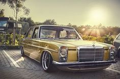 Perfect slammed Mercedes