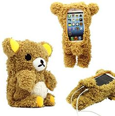 Amazon.com: GEARONIC TM New 2016 3D Cute Doll Toy Cool Plush Teddy Bear Cover Shockproof Dirt Dust Proof Case For Apple iPhone SE 4 4S 4G 5 5S 5C: Cell Phones & Accessories