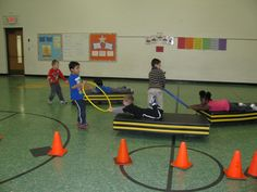 & was FUN and the kids did great! Kindergarten students doing Pencil and Log Rolls & Obstacle course - Jum. Elementary Physical Education, Education College, Elementary Education, Health Education, Scooter Games Physical Education, Pe Activities, Health Activities, Fitness Activities, Physical Activities