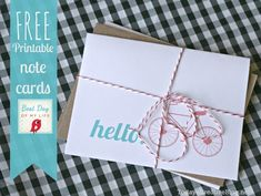 free printable note cards | TodaysCreativeBlog.net
