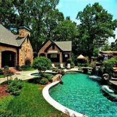 A Lazy River Pool Around The House My Dream