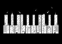 Piano Skyline by Lawrence Villanueva | Threadless