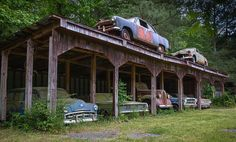 This abandoned car lot is creepy and #Beautiful. #Classic #RustinPeace