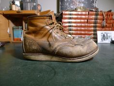 "Work worn Red Wing 875 6"" Moc Toe Boots - 8D #RedWing #875"