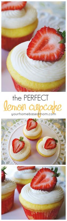 This is truly the most perfect lemon cupcake you will ever taste!