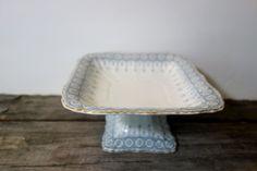 John Maddock & Sons pedestal bowl pedestal platter by AmidTheRuins, $55.00