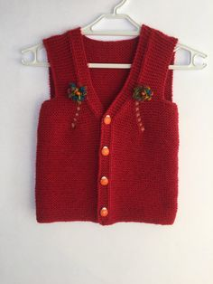 Hand Knitted Baby Vest Pink Baby Girl Vest Baby Vest Knitted