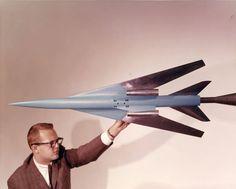Adv Arrow SST Model in 7 X 10 Foot High Speed Tunnel, 1962