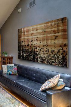 Aspen Wood Brown Distressed Wood Wall Art.