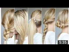 ❤ COAFURI SIMPLE DE FACUT ACASA , RAPID ! ❤ Fast Hairstyles, Everyday Hairstyles, Lilith Moon, Smooth Hair, Dream Hair, Hair Looks, Bobby Pins, Beauty Hacks, Braids