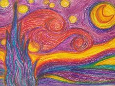 "The Original ""Starry Night"" by Vincent Van Gogh  I love to use Vincent Van Gogh's Starry Night as inspiration for student work. Vincent Van Gogh, Classroom Art Projects, Art Classroom, Van Gogh Arte, Starry Night Art, Starry Nights, Artist Van Gogh, Famous Artwork, Art Lessons For Kids"