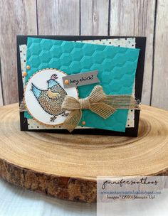 Happy Friday! I have some super cute cards to share today. I used the new SAB set called Hey Chick! How adorable are these chickens! This s...
