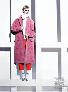 High necks and long lengths. #trend #fashion #editorial #Celine #retro