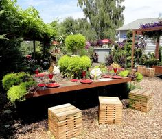 """danger garden: Bauman Farms goes a little Flora Grubb """"Farm AT Table"""" elements and display designed by Red Bird Restorative Gardens."""