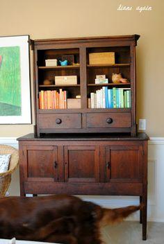 living room. black walnut cupboard. Ranger.