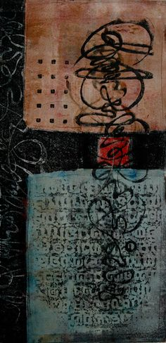 """Hope of Unity, monotype by Anne Moore, 20'X10"""""""
