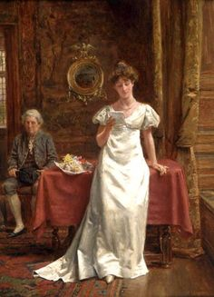 George Goodwin Kilburne, (24 July 1839 – 1924 London) Painter specialising in accurately drawn interiors with figures. 03