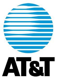 The old AT+T logo designed by Saul Bass in 1984.