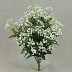 "Baby's Breath Bush in White<br>17"" Tall with 14 Stems"