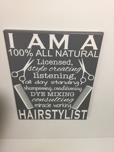 Painted canvas sign  gifts for hairstylist  gift for