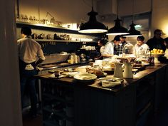 Amazing kitchen in Dublin restaurant, Hatch and sons on st Stephens green