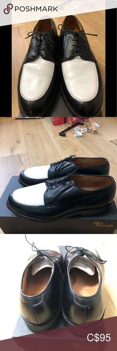 ALLEN EDMONDS/Men's/ Belmont/Leather/Shoes/ 9.5 ALLEN EDMONDS/Men's /Belmont/Black & White/Leather/Shoes/Size 9.5/Gently Worn /NO BOX/ Only Dust bag Allen Edmonds Shoes Oxfords & Derbys