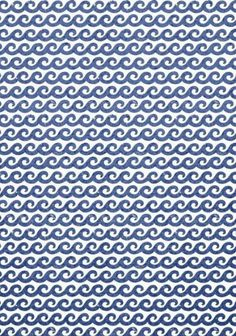 Shore Thing #wallpaper and coordinating #fabric in Navy from the #Resort collection by #Thibaut