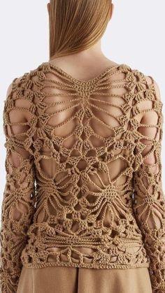 Crochet Poncho With Sleeves, Crochet Blouse, Crochet Top, Hexagon Crochet Pattern, Crochet Quilt, Knitting Patterns, Crochet Patterns, Dress Design Sketches, Irish Lace