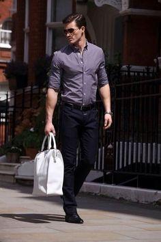 Business attire for men, men's fashion, fashion moda, work fashion, . Fashion Moda, Work Fashion, Fashion Outfits, Men's Fashion, Outfit Jeans, Street Style Vintage, Stylish Men, Men Casual, Casual Ootd