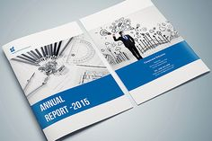 InDesign - Annual Report by Design_Fx on @creativemarket
