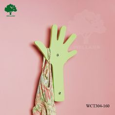 Mini wall coat rack green J, View hand shape wood coat hanger for kids's room, Welland Product Details from Welland Industries Co., Ltd. on ...