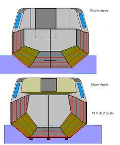 re small houseboat plans tiny houses and houseboats pinterest bateau en bois bateaux et. Black Bedroom Furniture Sets. Home Design Ideas