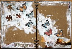 art journal page 'imagine' for scraps of darkness (via Bloglovin.com )