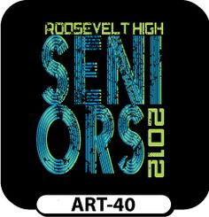 Get this weathered look for your next order of custom senior t-shirts! All of our templates can be modified to suit your need! We can even add each student's unique signature for no extra cost! spiritwear.com