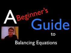 GREAT intro to balancing chemical equations