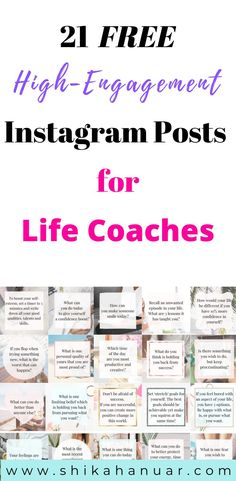 FREE 21 Instagram Posts for Life Coaches to Boost Engagement