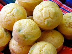 GF & Vegan Southern Style Corn Muffins  with Hatch Green Chilies