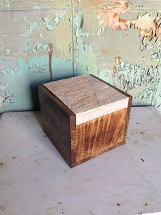 Mixed Wood Box by HandyDandyProduction on Etsy, $40.00