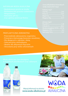 #Ulotka woda mineralna Java pH 9,2 #AlkalineWater #Leaflet #MineralWater #Health