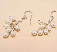 """Freshwater Pearl """"Flower Bud"""" Earrings - Bridal Earrings - Beth Devine Designs"""