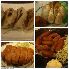 #餃子 #ニンニク #とんかつ #ウィンナー #居酒屋 螢 #gyouza #tonkatsu #garlic #sausage #izakaya #beer #food #dinner #philippines #フィリピン