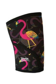 Love these custom knee sleeves. Great Bright pink, yellow and blue colors; and I LOVE the flamingos!    #crossfitgifts #crossfit #kneesleeves #powerlifting #ad