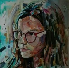 """""""Maria"""" oil on canvas by tasos bousdoukos"""